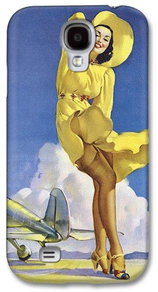 Gil Elvgren's Pin-up Girl Galaxy S4 Case by Gil Elvgren