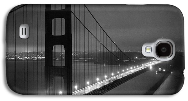 Golden Gate Bridge At Night Galaxy S4 Case by Underwood Archives
