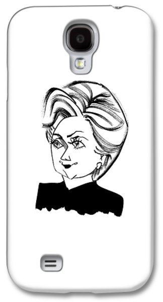 Hillary Clinton Galaxy S4 Case by Tom Bachtell