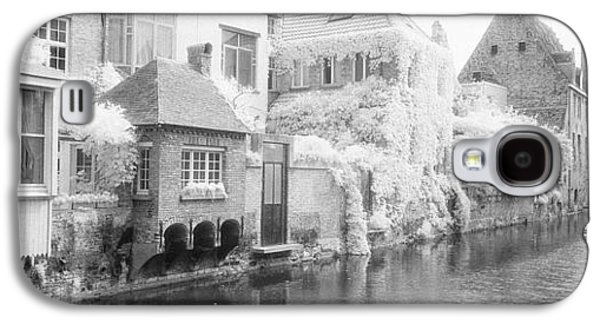 Houses Along A Channel, Bruges, West Galaxy S4 Case by Panoramic Images