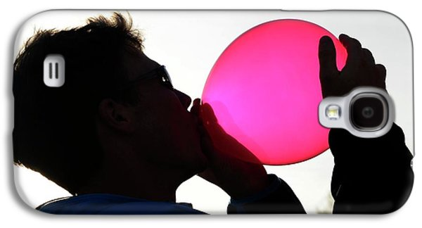 Inhaling Nitrous Oxide From A Balloon Galaxy S4 Case by Cordelia Molloy