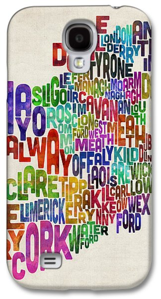 Ireland Eire County Text Map Galaxy S4 Case
