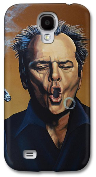 Jack Nicholson Painting Galaxy S4 Case by Paul Meijering