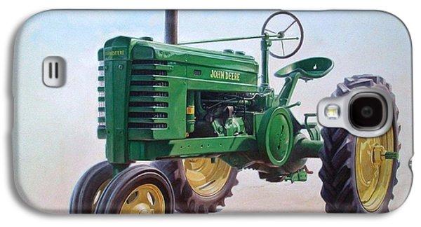 John Deere Tractor Galaxy S4 Case by Hans Droog
