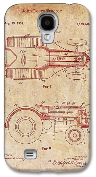 John Deere Tractor Patent 1939 Galaxy S4 Case by Mountain Dreams