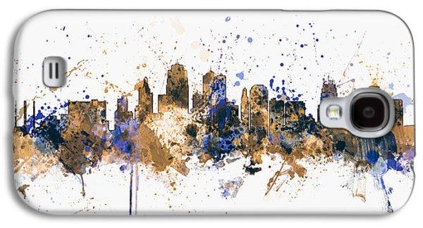 City Scenes Galaxy S4 Case - Kansas City Skyline by Michael Tompsett