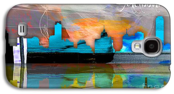Melbourne Australia Skyline Watercolor Galaxy S4 Case by Marvin Blaine