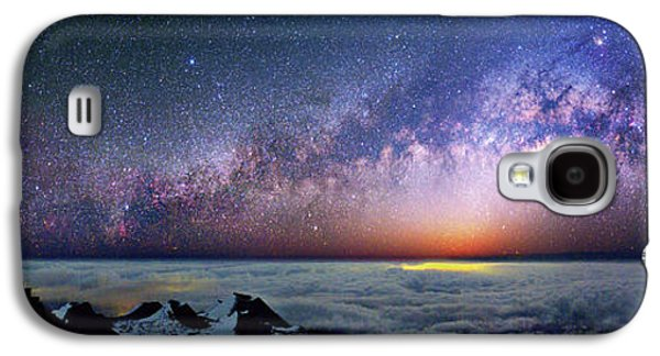 Milky Way Over Telescopes On Hawaii Galaxy S4 Case