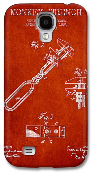 Monkey Wrench Patent Drawing From 1883 Galaxy S4 Case