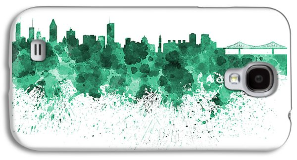 Montreal Skyline In Watercolor On White Background Galaxy S4 Case