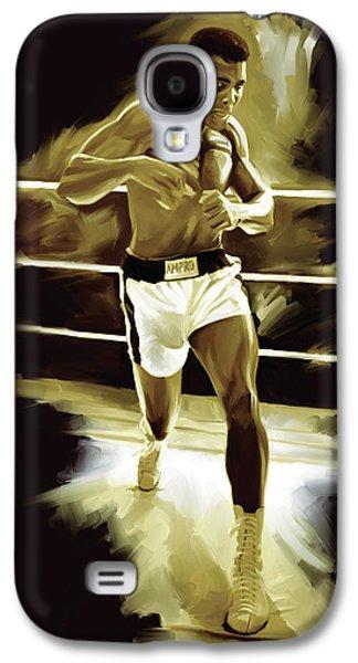 Muhammad Ali Boxing Artwork Galaxy S4 Case by Sheraz A