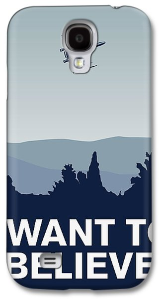 My I Want To Believe Minimal Poster-xwing Galaxy S4 Case by Chungkong Art