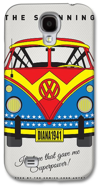 My Superhero-vw-t1-wonder Woman Galaxy S4 Case