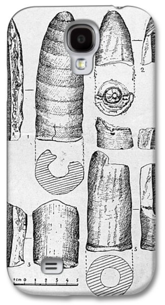 Neolithic Phallus Figures Galaxy S4 Case by Granger