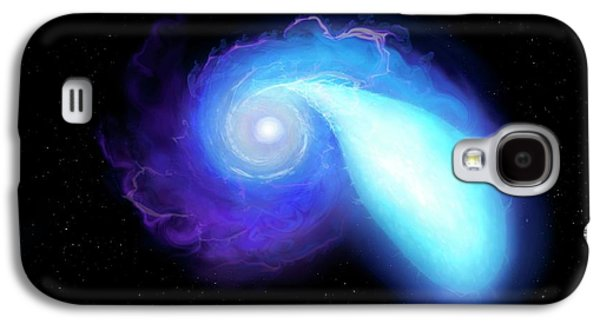 Neutron Star And White Dwarf Merging Galaxy S4 Case by Mark Garlick