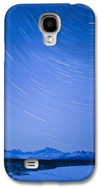 Night Time View Of Star Trails Over Mt Galaxy S4 Case by Kevin Smith