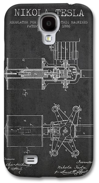 Nikola Tesla Patent Drawing From 1886 - Dark Galaxy S4 Case by Aged Pixel