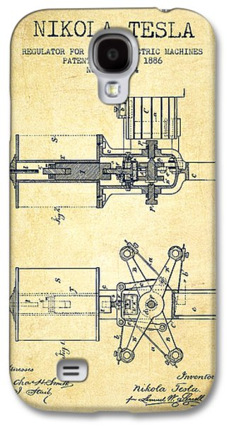Nikola Tesla Patent Drawing From 1886 - Vintage Galaxy S4 Case by Aged Pixel
