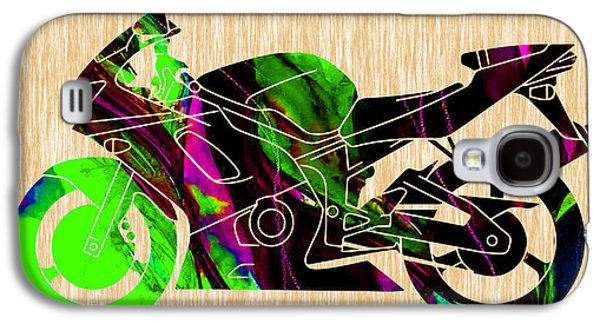 Ninja Motorcycle Art Galaxy S4 Case by Marvin Blaine