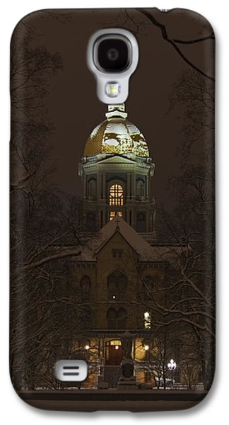 Notre Dame Golden Dome Snow Galaxy S4 Case