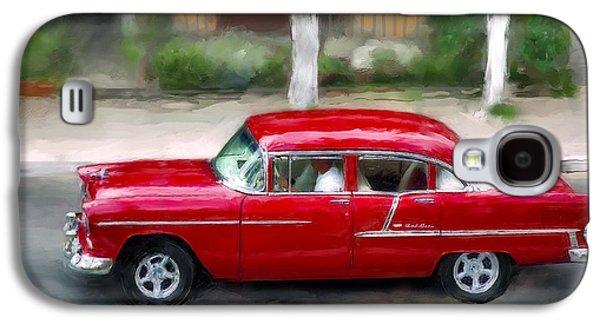 Red Bel Air Galaxy S4 Case by Juan Carlos Ferro Duque