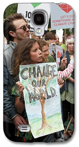 People's Climate March Galaxy S4 Case by Victor De Schwanberg