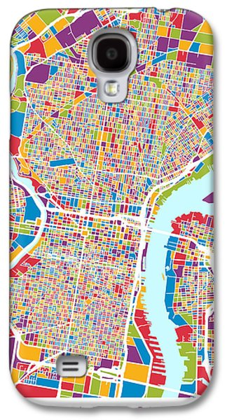 Philadelphia Pennsylvania Street Map Galaxy S4 Case