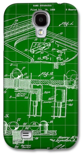 Pinball Machine Patent 1939 - Green Galaxy S4 Case by Stephen Younts