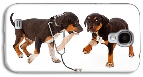 Puppy Veterinarian And Patient Galaxy S4 Case by Susan Schmitz