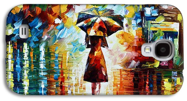 Rain Princess - Palette Knife Landscape Oil Painting On Canvas By Leonid Afremov Galaxy S4 Case by Leonid Afremov
