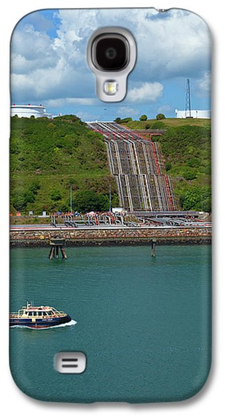 Refinary Pipeline In Milford Haven Galaxy S4 Case by Panoramic Images