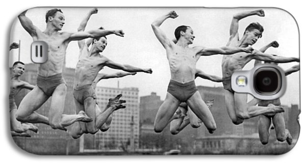 Rooftop Dancers In New York Galaxy S4 Case by Underwood Archives