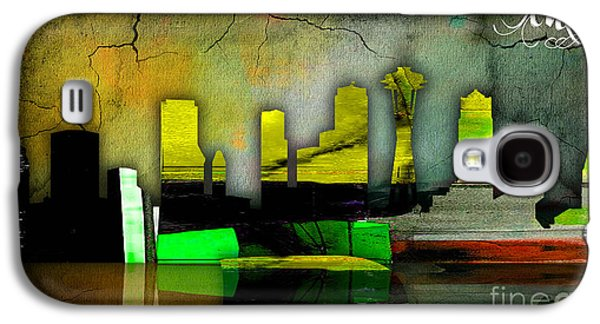 Seattle Skyline Watercolor Galaxy S4 Case