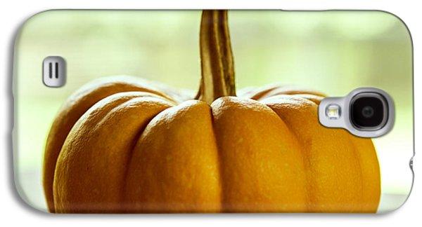 Small Orange Pumpkin Galaxy S4 Case by Iris Richardson