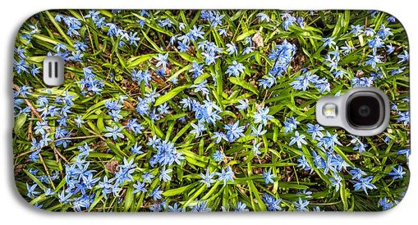 Spring Blue Flowers Galaxy S4 Case by Elena Elisseeva