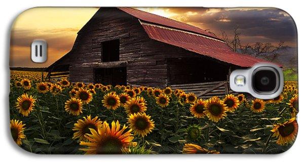 Sunflower Farm Galaxy S4 Case by Debra and Dave Vanderlaan