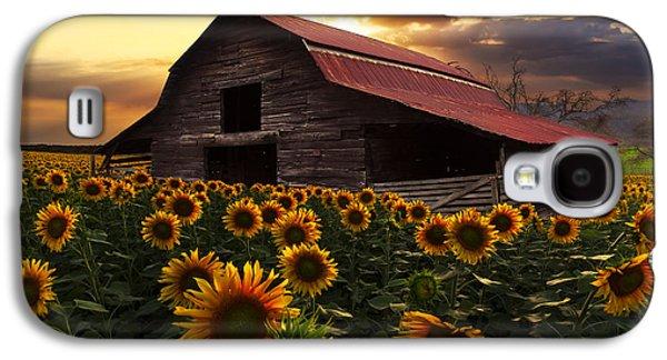 Sunflower Farm Galaxy S4 Case