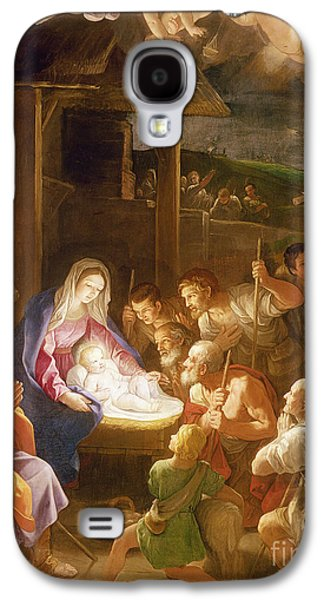 The Adoration Of The Shepherds Galaxy S4 Case by Guido Reni