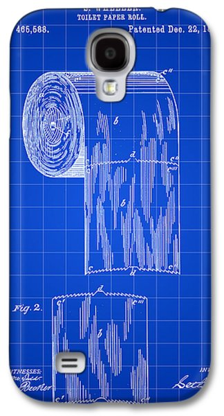 Toilet Paper Roll Patent 1891 - Blue Galaxy S4 Case