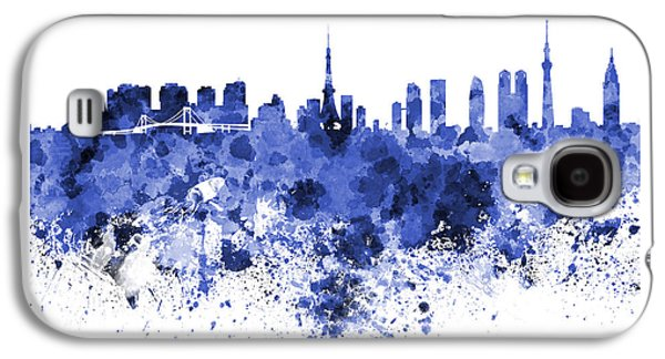 Tokyo Skyline In Watercolor On White Background Galaxy S4 Case