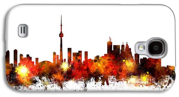 Toronto Canada Skyline Galaxy S4 Case by Michael Tompsett