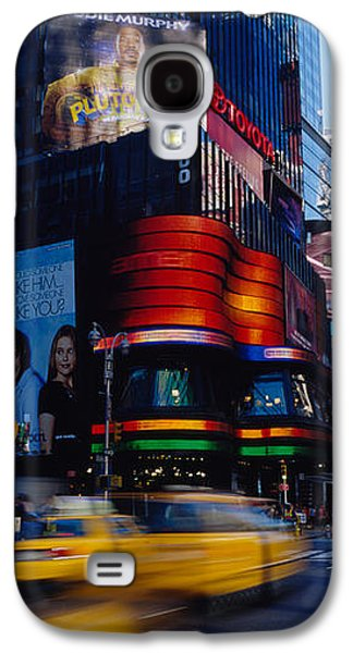 Traffic On A Street, Times Square Galaxy S4 Case by Panoramic Images