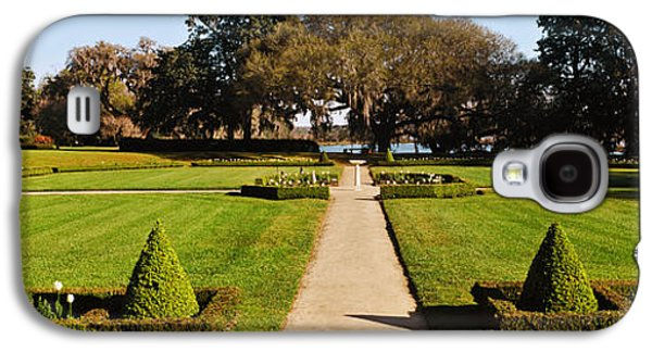 Trees In A Garden, Middleton Place Galaxy S4 Case by Panoramic Images