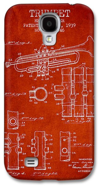 Trumpet Patent From 1939 - Red Galaxy S4 Case by Aged Pixel