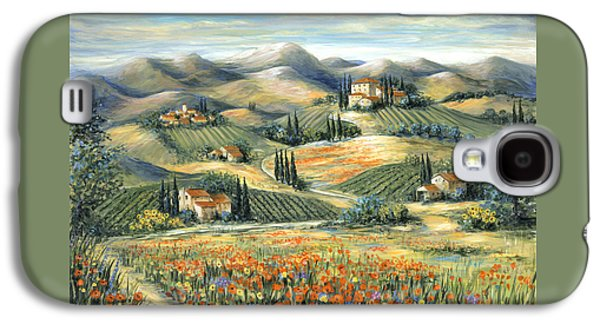 Tuscan Villa And Poppies Galaxy S4 Case by Marilyn Dunlap