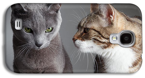 Cats Galaxy S4 Case - Two Cats by Nailia Schwarz