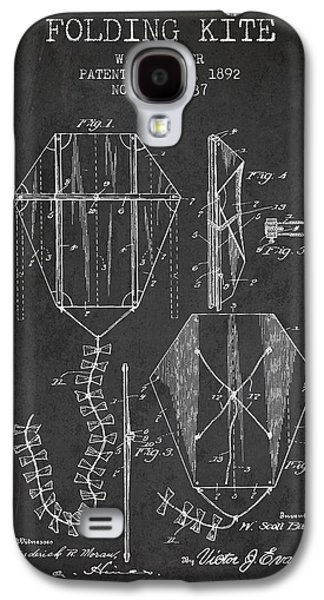 Vintage Folding Kite Patent From 1892 Galaxy S4 Case by Aged Pixel
