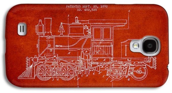 Vintage Locomotive Patent From 1892 Galaxy S4 Case by Aged Pixel
