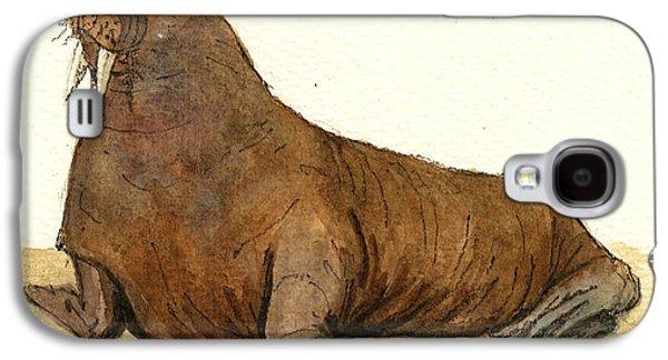 Walrus Galaxy S4 Case by Juan  Bosco