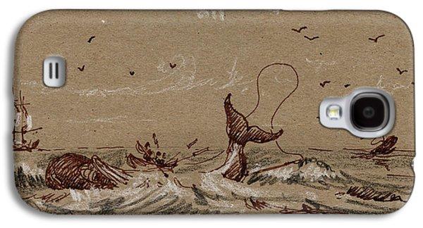 Whaler Ship Galaxy S4 Case by Juan  Bosco